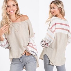 MARY KATE Multicolor Stripes Long sleeve top